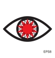 Red Eye Icon vector image vector image