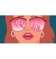 Rose-colored glasses vector image vector image