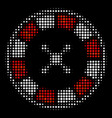 roulette halftone icon vector image