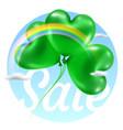 saint patricks day green sale card color vector image vector image
