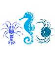 sea animal 2 vector image vector image