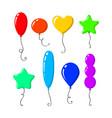 set colorful and bright cartoon air balloons vector image vector image