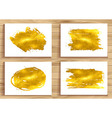 set of Golden banners vector image vector image