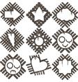 set of grunge icon vector image