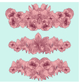 Set of vintage flowers compositions on teal backgr vector image vector image
