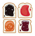 set of white toast bread slices vector image vector image
