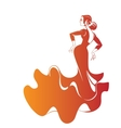 Silhouette flamenco dancer expressive pose vector image vector image