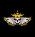 skull king sports logo king mascot logo vector image