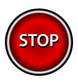 Stop icon Internet button on white background vector image