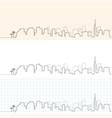 tel aviv hand drawn skyline vector image vector image