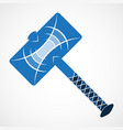 thor hammer icon vector image