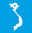 Vietnam map icon white