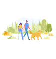 visually impaired man and disabled woman on date vector image vector image