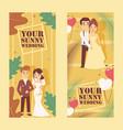 wedding agency advertisement banners vector image vector image