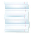 white sheet from a notebook in a line vector image vector image