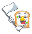 with flag sandwich with egg isolated in mascot vector image