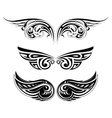 Ethnic wing tattoo set vector image