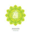 anahata - chakra icon vector image