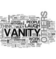 a sweep of vanity how to burst your own bubble vector image vector image