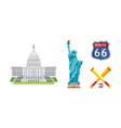american national symbols set usa landmarks vector image vector image