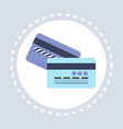 banking credit card electronic money concept flat vector image