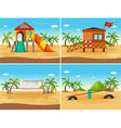 Beach and playground vector image vector image