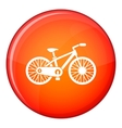 Bicycle icon flat style vector image