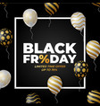 black friday sale poster with white and black vector image
