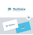 brain circuit logotype with business card vector image vector image