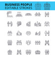 business people ouline icons editable vector image vector image