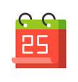 calendar of 25 december merry christmas icon set vector image vector image