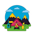 camping summer relate vector image vector image