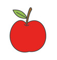 cartoon simple red apple isolated vector image