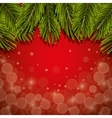 christmas pine leaves background vector image vector image