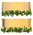 Christmas Scroll Set 2 vector image vector image