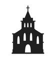 church icon isolated on white background vector image vector image