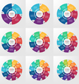 circle infographic set 4 12 options vector image vector image