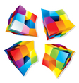 Colored Cube Logos vector image vector image