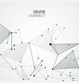 connection science polygonal background vector image vector image