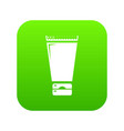 creme tube icon green vector image vector image