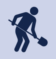 digger with shovel icon vector image