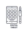 digital tablet line icon concept digital tablet vector image vector image