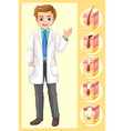 Doctor and diagram of acne problem vector image vector image