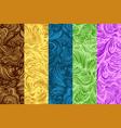 doodle seamless pattern set vector image