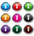 energy saving bulb set 9 collection vector image vector image