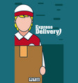express delivery concept vector image