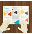 Flat Design Brochure Template vector image vector image