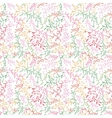 Floral seamless pattern with leaf vector image