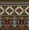 folk ornamental seamless pattern geometric ethnic vector image vector image