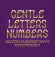 Gentle letters and numbers with currency signs